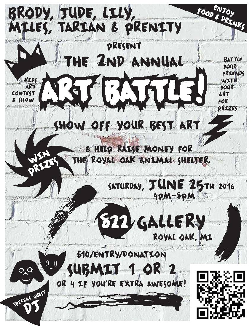 2nd Annual ART BATTLE for KIDS!