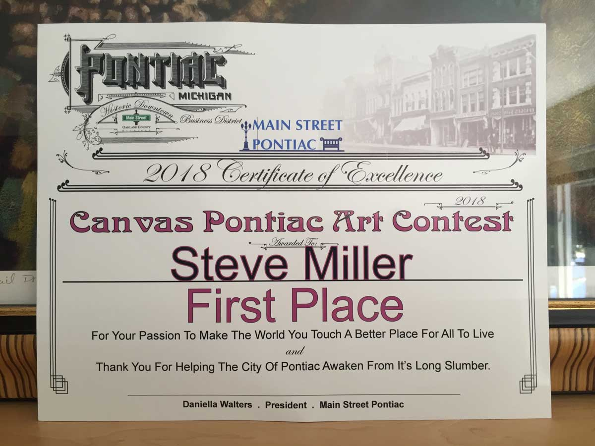 Canvas Pontiac – 1st Place